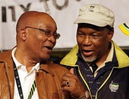 Przewodniczący ANC  Jacob Zuma i nowy Prezydent RPA Kgalema Motlanthe