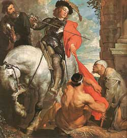 """A.Van Dyck """"Św.Marcin dzieli się płaszczem"""""""